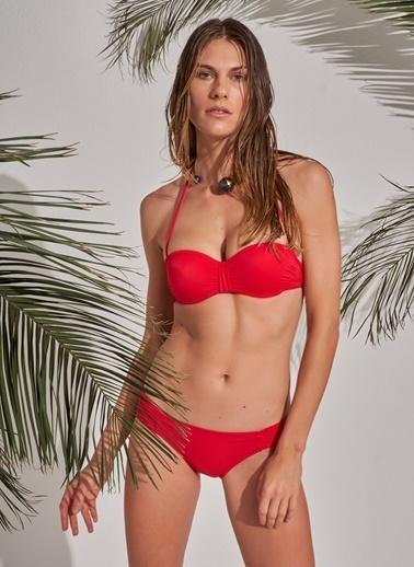 Morhipo Beach Straplez Dolgulu Bikini Kırmızı